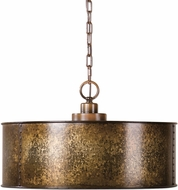 Uttermost 22066 Wolcott Vintage Golden Galvanized Drum Hanging Light