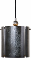 Uttermost 22069 Norton Modern Smoky Galvanized Mini Hanging Pendant Lighting