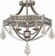 Uttermost 22275 Tamworth Burnished Silver Champagne Leaf Ceiling Lighting