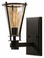 Uttermost 22492 Frisco 13 Inch Tall Cognac Tinted Glass Wall Light Sconce