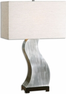 Uttermost 26502-1 Arjuna Contemporary Antiqued Brushed Nickel Table Light
