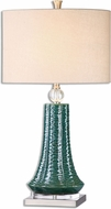 Uttermost 26509-1 Gosaldo Textured Teal Table Lamp Lighting