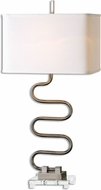 Uttermost 26642-1 Karna Wavy Metal Table Top Lamp