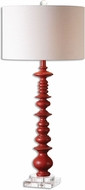 Uttermost 26655-1 Adena Aged Red Buffet Table Lamp