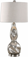 Uttermost 27055-1 Dovera Modern Plated Polished Nickel Mercury Glass Table Lamp