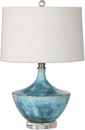 Uttermost 27059-1 Chasida Blue Tie Dyed Ceramic Glaze Table Light
