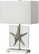 Uttermost 27101-1 Silver Starfish Modern Metallic Silver Starfish Table Lamp Lighting