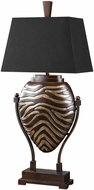 Uttermost 27102 Aguila Contemporary Lightly Distressed Dark Bronze Table Top Lamp