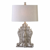 Uttermost 27120-1 Triversa Heavily Distressed Taupe Gray Table Lamp Lighting