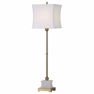 Uttermost 29205-1 Liano Brushed Brass Buffet Table Lamp