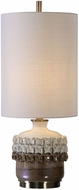 Uttermost 29352-1 Elsa Plated Antiqued Brass Ceramic Accent Lamp