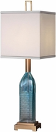Uttermost 29373-1 Annabella Coffee Bronze Teal Glass Accent Lighting