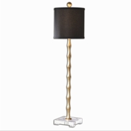 Uttermost 29585-1 Quindici Antiqued Gold Leaf Finish 9 Wide Buffet Table Light