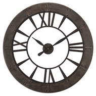 Uttermost 6085 Ronan Small Deep Frame 40 Inch Diameter Wall Clock