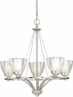 Vaxcel AA-CHU005SN Asti Contemporary Satin Nickel Finish 26  Wide Chandelier Lighting