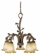 Vaxcel AS-CHD005PT Aspen Rustic Pine Tree Finish 25.5  Tall Chandelier Light