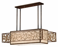 Vaxcel AT-PDD380AW Ascot Aged Walnut 19.5  Wide Island Light Fixture
