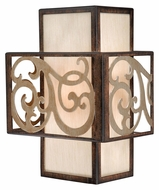 Vaxcel AT-WSU080AW Ascot Aged Walnut Finish 11  Tall Wall Mounted Lamp