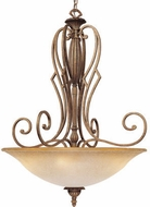 Vaxcel AV-PDU280GU Avignon Traditional Gilded Umber Finish 35  Tall Hanging Light