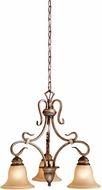 Vaxcel BE-CHD003AW Berkeley Traditional Aged Walnut Finish 22  Wide Mini Chandelier Lamp