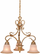 Vaxcel BE-CHD003CA Berkeley Traditional Corinthian Patina Finish 19.75  Tall Mini Chandelier Light