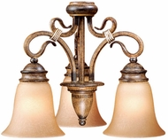 Vaxcel BE-LKD003AW-C Berkeley Traditional Aged Walnut Finish 14  Tall Fan Light Fixture