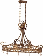 Vaxcel BE-PDD400AW Berkeley Traditional Aged Walnut Finish 27  Wide Island Lighting