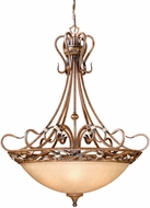 Vaxcel BE-PDU380AW Berkeley Traditional Aged Walnut Finish 38  Wide Hanging Pendant Light