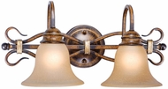 Vaxcel BE-VLD002AW Berkeley Traditional Aged Walnut Finish 9  Wide 2-Light Bathroom Lighting Fixture