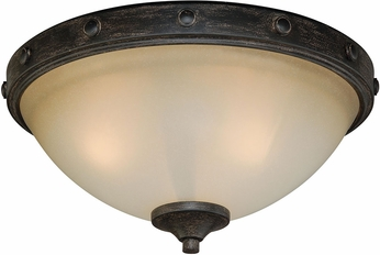 Vaxcel C0076 Halifax Aged Walnut Ceiling Lighting Fixture VXL C0076