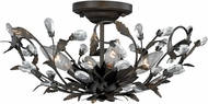 Vaxcel C0093 Trellis Contemporary Architectural Bronze Ceiling Lighting Fixture