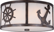 Vaxcel C0138 Nautique Sterling Bronze Flush Ceiling Light Fixture