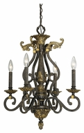 Vaxcel CA-CHU004WA Caesar Traditional Walnut Patina 18.75  Wide Mini Candle Ceiling Chandelier