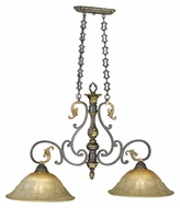 Vaxcel CA-PDD380WA Caesar Traditional Walnut Patina Finish 23.25  Tall Kitchen Island Light Fixture