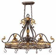 Vaxcel CA-PDD420WA Caesar Traditional Walnut Patina 22  Wide Island Lighting