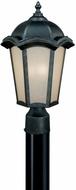 Vaxcel CE-OPU090GT Chloe Traditional Gold Stone Finish 9.5  Wide Outdoor Post Lamp