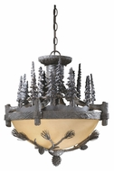 Vaxcel CF65219CP Jasper Country Coal Patina Finish 19.25  Wide Pendant Lighting Fixture