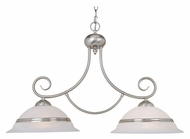 Vaxcel CH1002BN Da Vinci Brushed Nickel Finish 19.75  Tall Kitchen Island Lighting