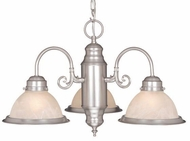 Vaxcel CH29903BN Saturn Brushed Nickel Finish 23  Wide Mini Chandelier Lamp