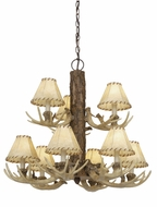 Vaxcel CH33009NS Lodge Rustic Noachian Stone Finish 26.5  Wide Chandelier Lamp