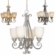 Vaxcel CH35904 Mont Blanc 24  Tall Mini Hanging Chandelier