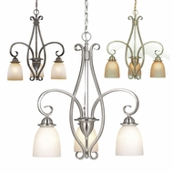 Vaxcel CH35953 Mont Blanc 23  Wide Mini Chandelier Light