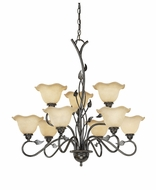 Vaxcel CH38809OL Vine Rustic Oil Shale Finish 30.5  Wide Chandelier Lighting