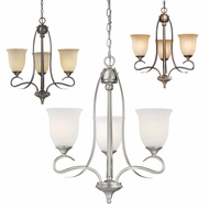 Vaxcel CH40103 Esprit 23  Wide Mini Chandelier Lamp
