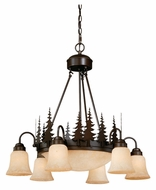 Vaxcel CH55506BBZ Yosemite Country Burnished Bronze Finish 28.5  Wide Chandelier Lighting