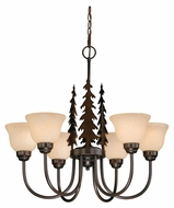 Vaxcel CH55556BBZ Yosemite Rustic Burnished Bronze Finish 25  Tall Chandelier Light