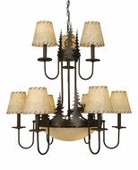 Vaxcel CH55609BBZ Yellowstone Country Burnished Bronze Finish 31  Wide Chandelier Light