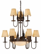 Vaxcel CH55709BBZ Bozeman Rustic Burnished Bronze Finish 31  Tall Ceiling Chandelier