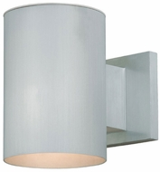 Vaxcel CO-OWD050SL Chiasso Contemporary Satin Aluminum Finish 8  Wide Exterior Wall Light Sconce
