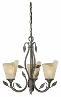 Vaxcel CP-CHU003BW Capri Rustic Black Walnut Finish 19  Tall Mini Chandelier Lamp